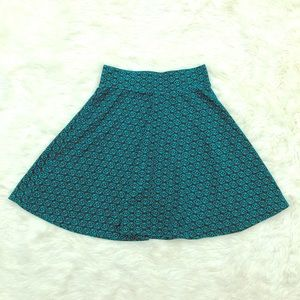 LA Hearts Aztec Print Mini Skater Skirt Size Small